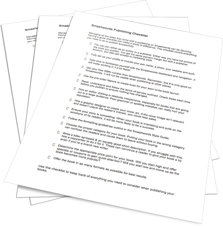 Smashwords Publishing Checklist