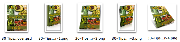 Ecovers for 30 Healthy Fats Tips