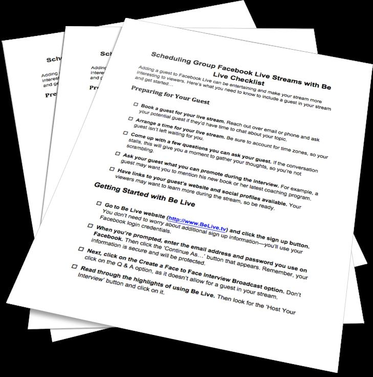 BeLive Checklist
