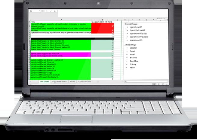 Keyword Tracking Spreadsheet