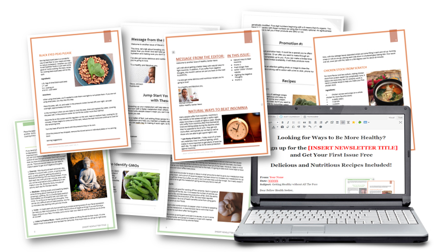 Health Niche Ready-to-Go Newsletters Package