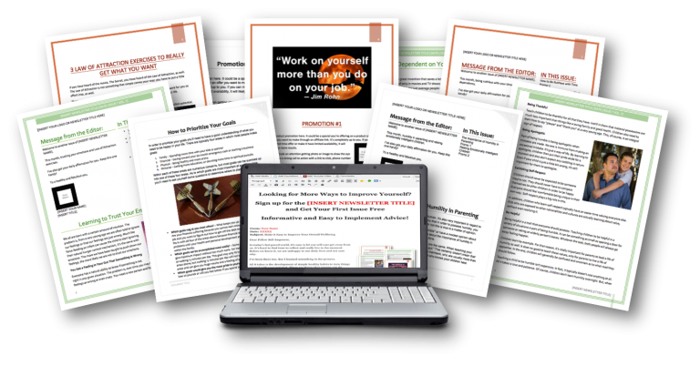 Self-Improvement Niche Ready-to-Go Newsletters Package
