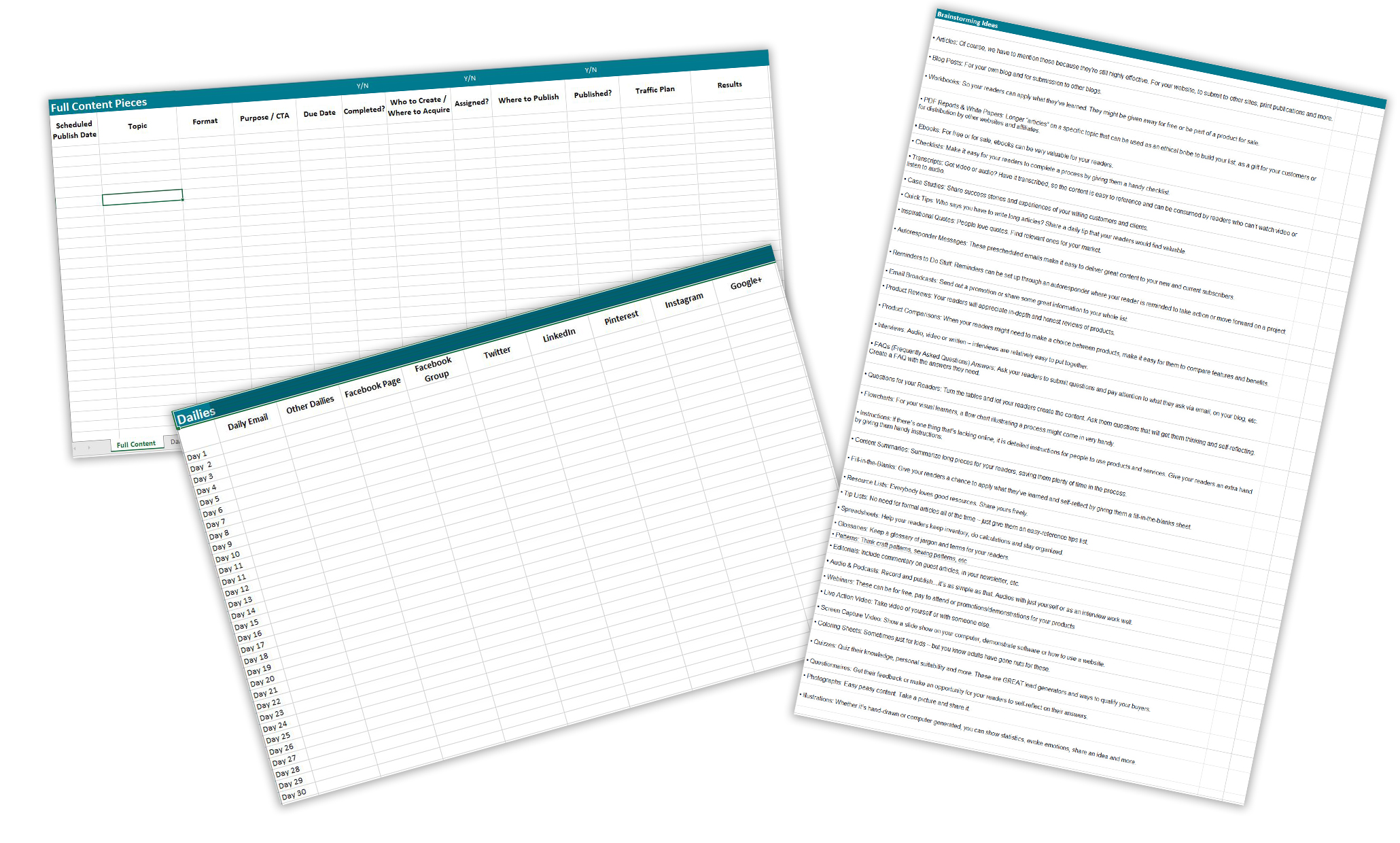 Monthly Content Planner