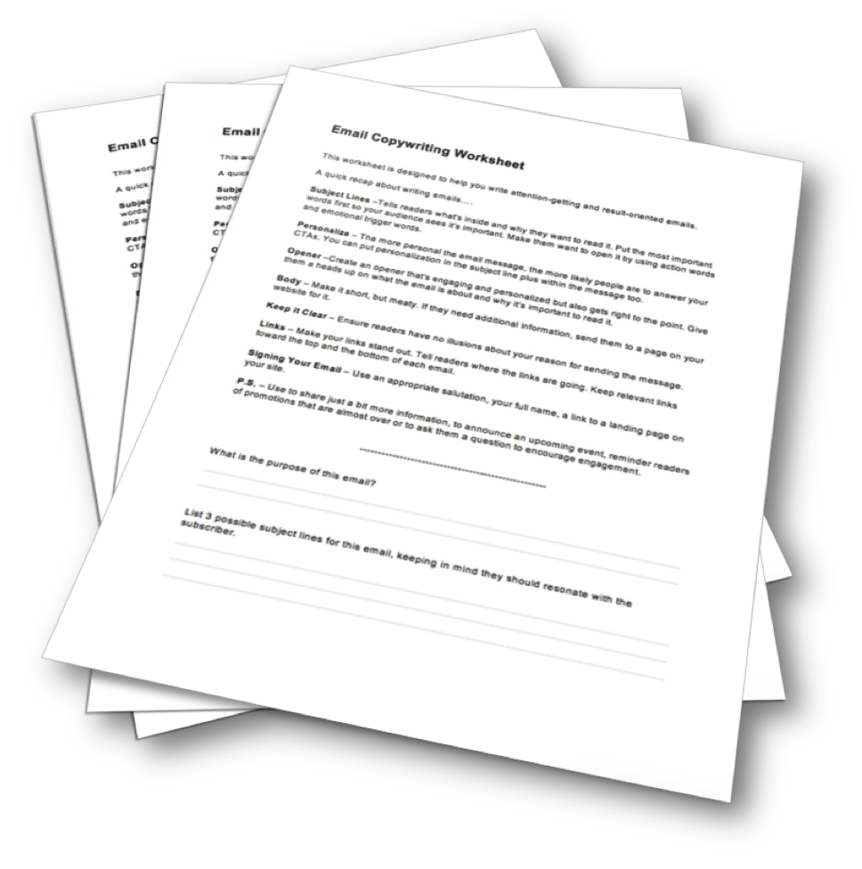 Email Copywriting Worksheet