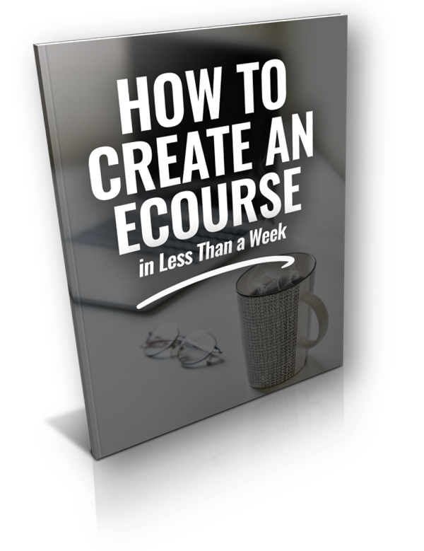 how to create an ecourse optin image
