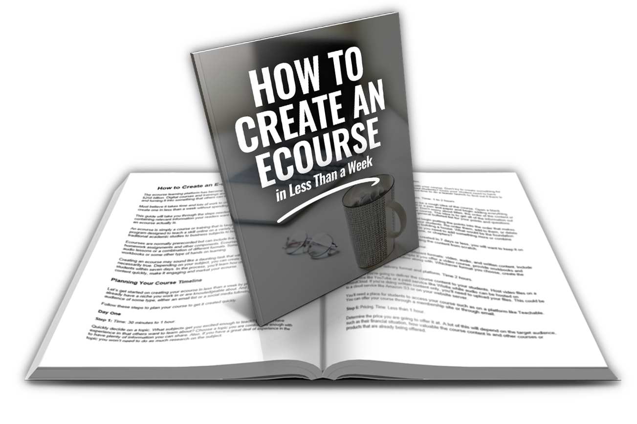How to Create an Ecourse